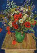 Arnold Balwé, 1898 Dresden-1983 Feldwies/Chiemsee, Großer Blumenstrauß, Öl/Lwd, doubliert, links