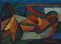 Otto Ditscher, 1903-1987 Neuhofen, Gaia-Mutter Erde, rückseitig so betitelt, Öl/Malkarton, rechts
