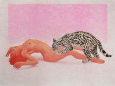 Mel Ramos, 1935-2018, Ocelot, 1969, Farblithografie auf dickem Velin, hier Probedruck daher