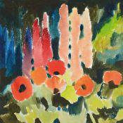 Siegward Sprotte, 1913-2004, Mohn und Lupinen in meinem Garten, rückseitig auf dem rahmen so