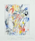 Dietmar Brixy, geb. 1961 Mannheim, Gemälde, Öl/Lwd, sign., unter Glas gerahmt, Motiv 25x17,5 cm,