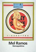 Mel Ramos, geb. 1935, Lucky Lulu Blonde, Offset-Lithografie, unter Glas gerahmt, gesamt ca. 89x65