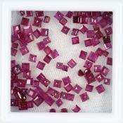 Lot lose facett. Rubincarrees, zus. 12.20 ct Schätzpreis: 2200, - EURLot loose bevelled rubycarrees,