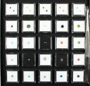 """Reiches Konvolut mit 25 Boxen lose Farbsteine der """"Gem Collector"""" Serie, Round gem collection -"""