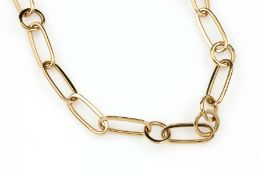 18 kt Gold POMELLATO Collier, GG 750/000, rund und längliche Ankerglieder, L. ca. 48 cm,mit