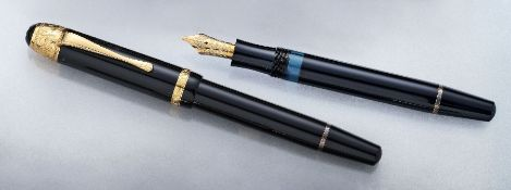 "MONTBLANC Masterpiece, ""Voltaire"", Limited Edition 1995 , silver 925 gilded, no. 18712/20000, nib YG"