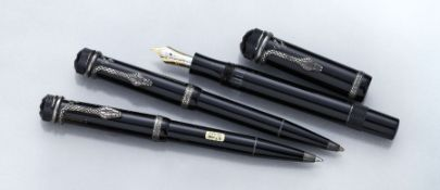 "MONTBLANC pen set, Master Piece ""Agatha Christie"", Writers Edition 1993, honoring Agatha Christie"