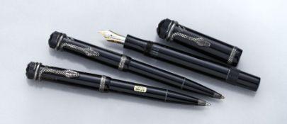 "MONTBLANC pen set, Master Piece ""Agatha Christie"", Writers Edition 1993, honoring Agatha Christie"