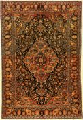 "Feiner ""Manchester"" Keschan antik, Zentralpersien, um 1900, Manchester Korkwolle geknüpft auf"