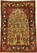 "Feiner Esfahan ""Ahmad"" antik, Zentralpersien, Ende 19.Jhd., Korkwolle geknüpft auf Baumwolle."