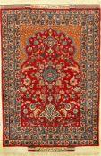 "Sehr feiner Esfahan ""Bagher Seirafian"" alt (Signiert), Zentralpersien, um 1960/1970, Korkwolle"