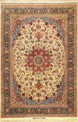 "Großer Sehr feiner Esfahan ""Bagher Seirafian"" alt (Signiert), Zentralpersien, um 1960, Korkwolle"
