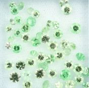 Lot round bevelled tsavorites total approx.9.90 ct Valuation Price: 560, - EUR