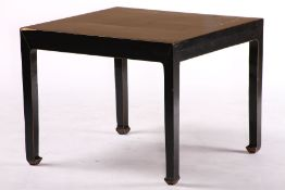 Side Table, China, wood, coloured black, shrinkage cracks, traces of use, approx. 51x65x65 cm