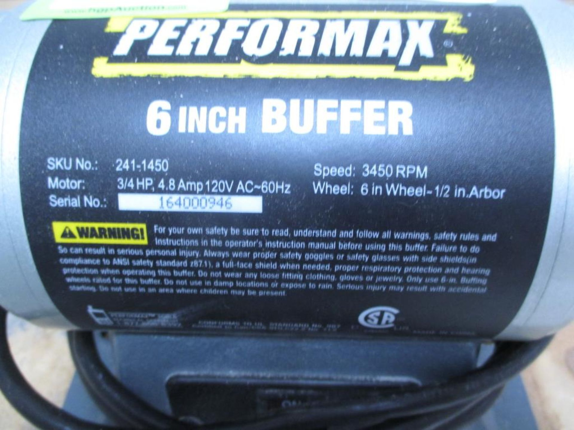 Lot 145 - Buffer Motor