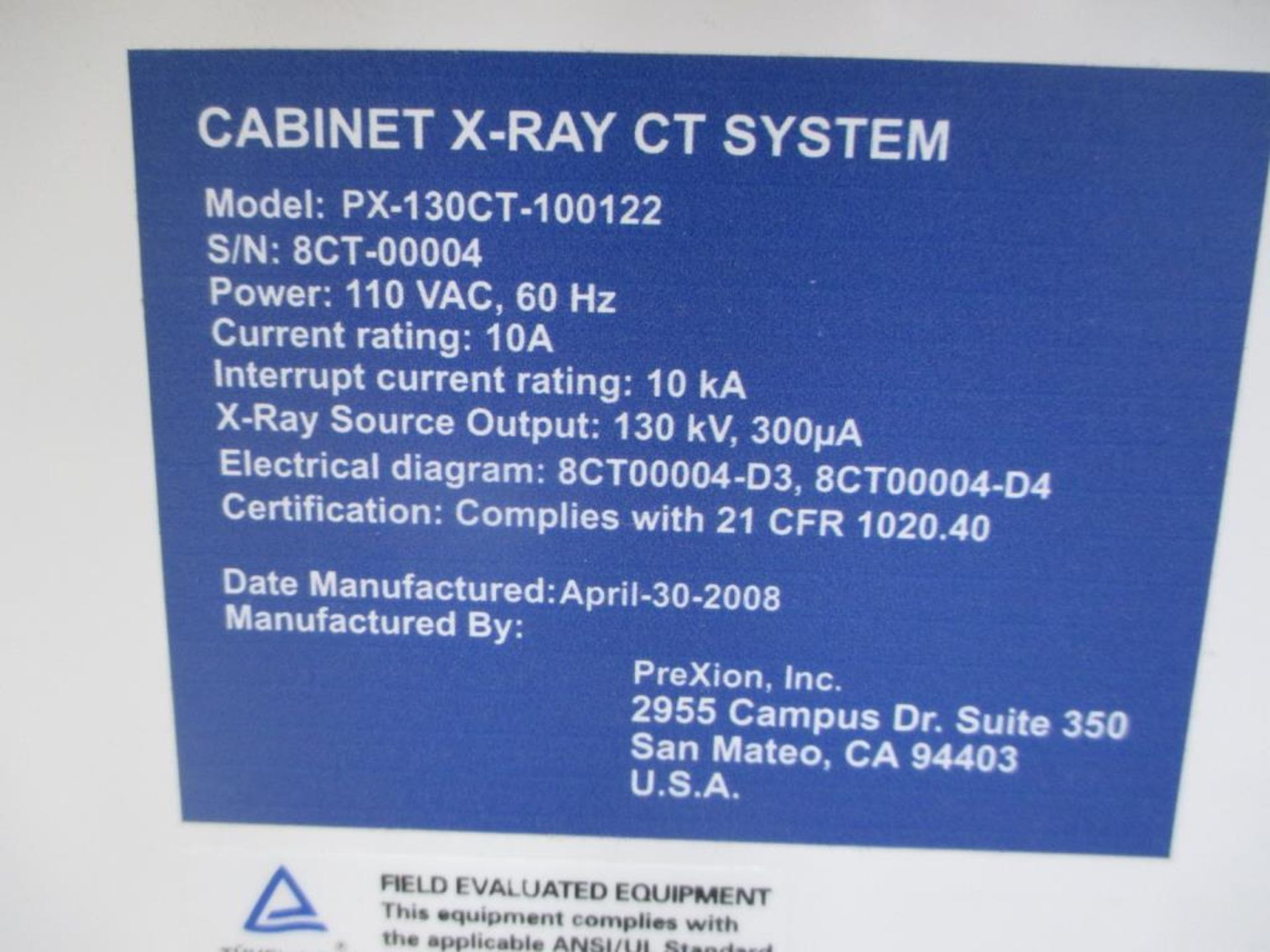 Lot 119 - X-Ray CT System