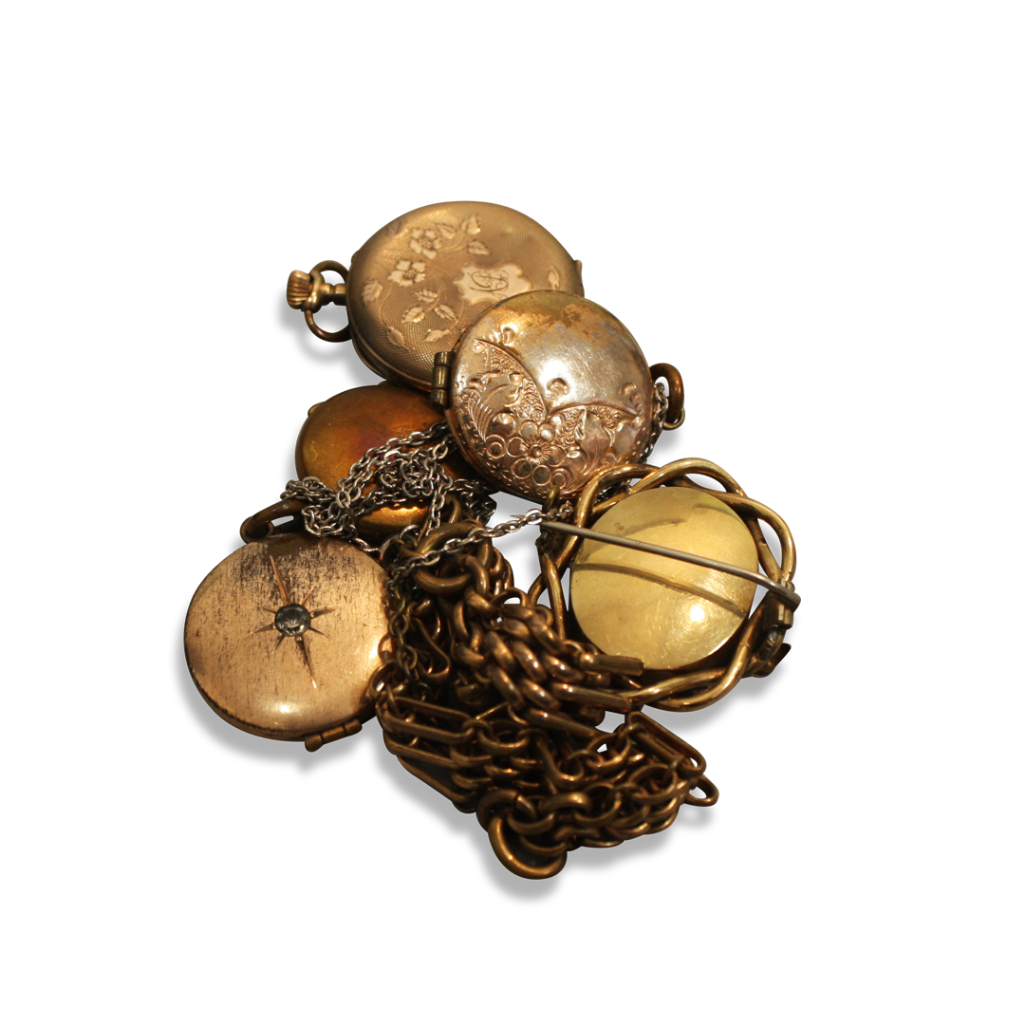 Lot 10 - COLLECTION OF GOLD PLATED ITEMS