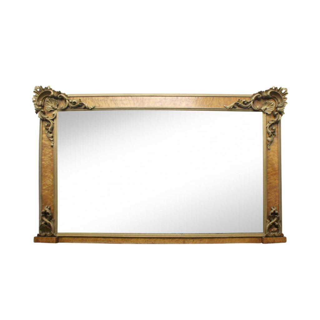 Lot 11 - CONTINENTAL STYLE OVERMANTEL MIRROR