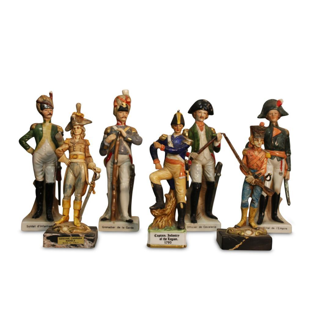 Lot 19 - COLLECTION OF PORCELAIN FIGURES OF INFANTRYMEN