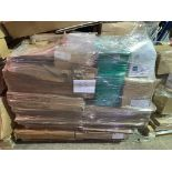 1 x Pallet of Mixed Stock/Stationery Including Whiteboards, Noticeboards, Bankers Boxes,