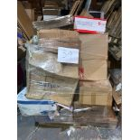 1 x Pallet of Mixed Stock/Stationery Including Heavy Duty Staplers, Bentley Cleaning Products,