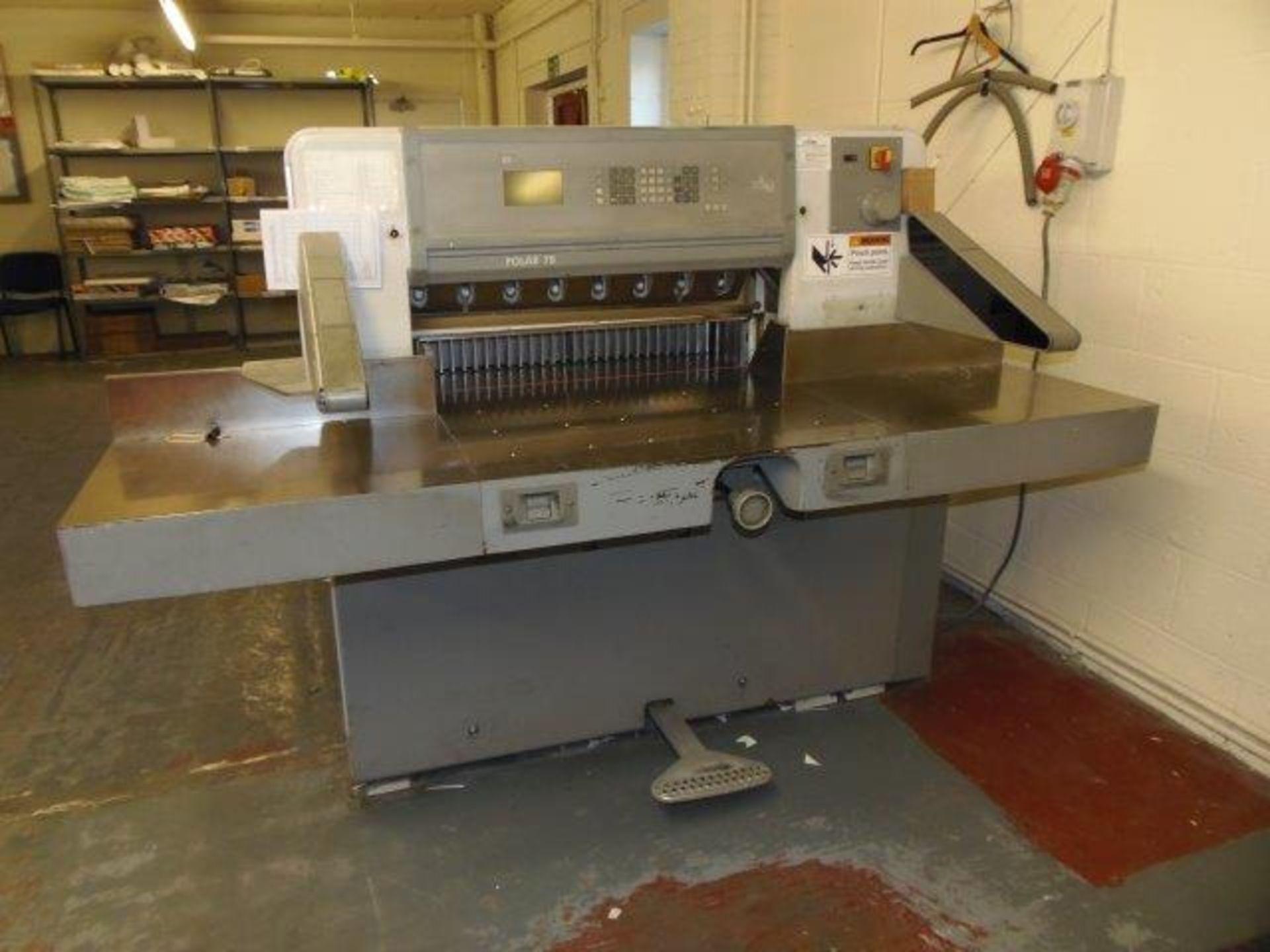 Lot 5 - Polar 78 guillotine (1999) Serial no. 6961082