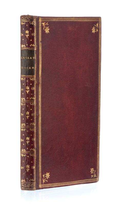 Lot 50 - LA BEAUMELLE. L'Asiatique tolérant. Paris. Durand. s.d.1 vol. In-12°. relié plein maroquin rouge. do