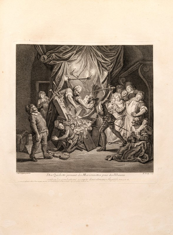 Lot 29 - COYPEL Les principales avantures de l'incomparable chevalier errant Don Quichotte de la Manche pei