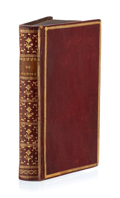 Lot 15 - BERNIS (Cardinal de). 'uvres complètes. 2 tomes en 1 vol. in-12 plein maroquin rouge
