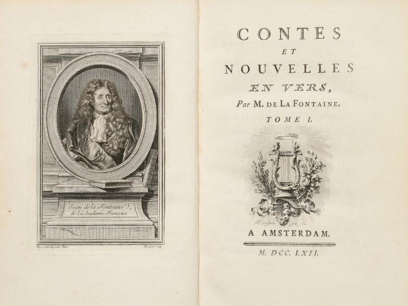 Lot 52 - LA FONTAINE (Jean de). Contes et nouvelles en vers. Amsterdam [Paris]. s.n.. 1762. 2 vol. in-8° plei