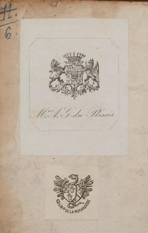 Lot 7 - DROIT. ROUILLIARD. Les reliefs forenses. Paris. Tomas de la Ruelle. 1607. Fort in-8° plein veau brun