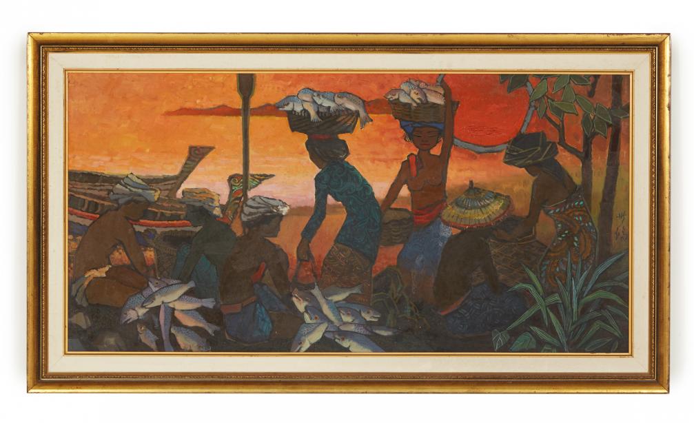 TEE HONG AW (SINGAPOREAN, B.1932) - FISHERMEN'S JOY