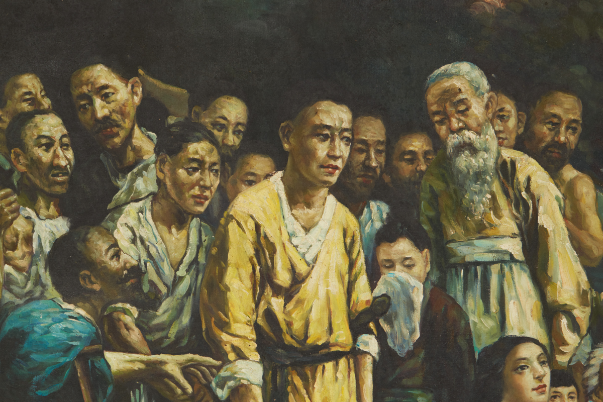 Lot 20 - CHINESE SCHOOL (20TH CENTURY) - A COPY OF 'TIAN HENG AND HIS FIVE HUNDRED FOLLOWERS'