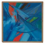 JAAFAR LATIFF (SINGAPOREAN, 1937-2007) - BLUE ABSTRACT