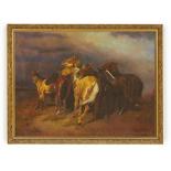 EUROPEAN SCHOOL (20TH CENTURY) - WILD HORSES