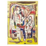 GEMMA VAN SCHENDELEN (DUTCH, B.1950) - ABSTRACT ON YELLOW