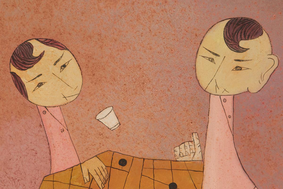 NGUYEN MINH SON (VIETNAMESE, B.1971) - PLAYING CHESS - Image 2 of 4
