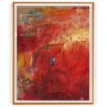 HELENE CARPENTER (BRITISH, 20TH CENTURY) - RED ABSTRACT