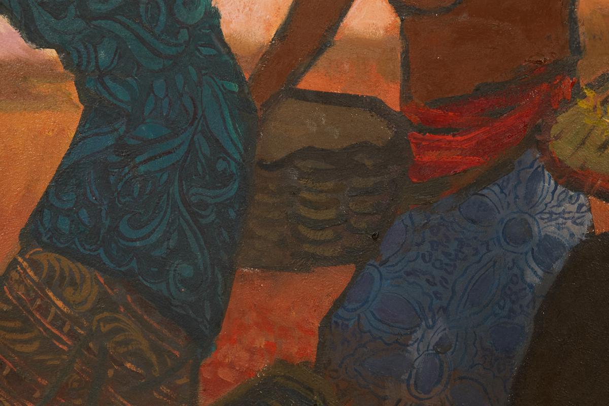 TEE HONG AW (SINGAPOREAN, B.1932) - FISHERMEN'S JOY - Image 8 of 13