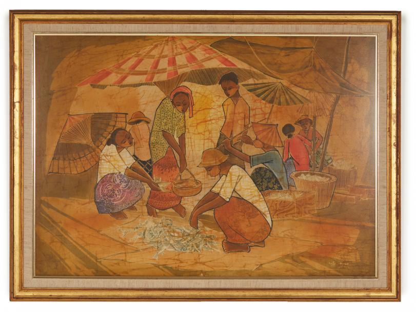 Lot 9 - CIRCLE OF KENG SENG CHOO (MALAYSIAN, 20TH CENTURY) - FISH MARKET
