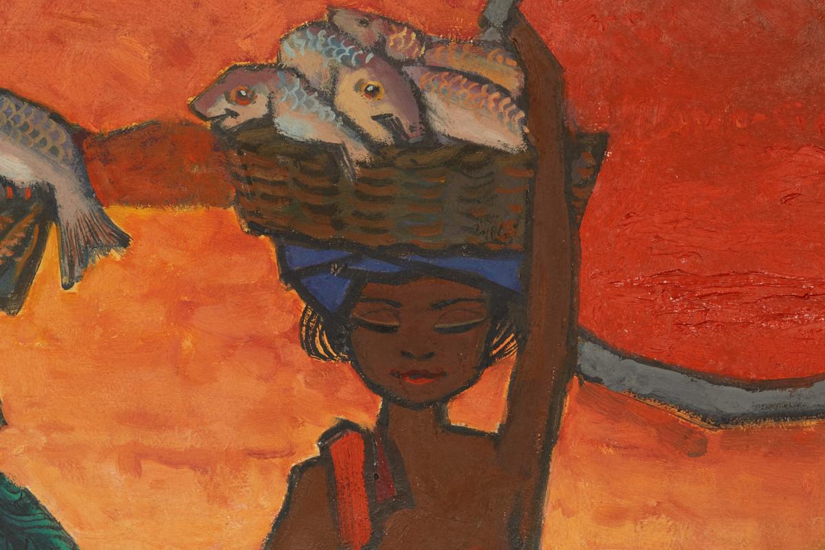 TEE HONG AW (SINGAPOREAN, B.1932) - FISHERMEN'S JOY - Image 3 of 13