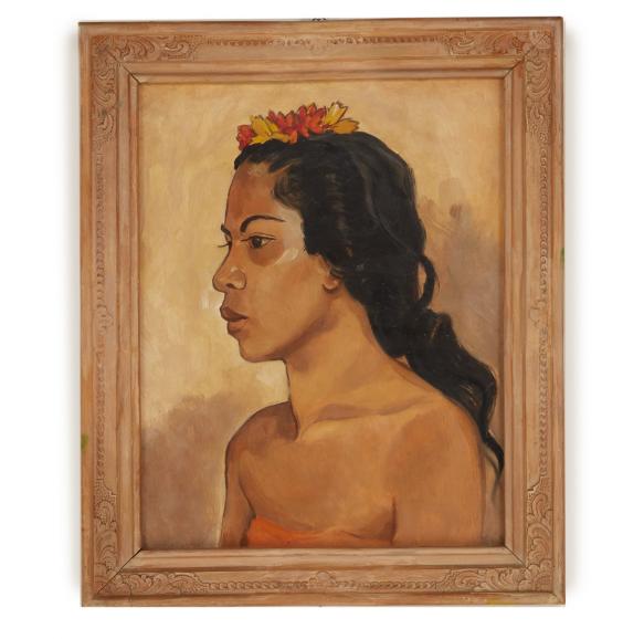ARTHUR JOHANN JO KÖNIG (GERMAN, ?-1951) - BALINESE WOMAN