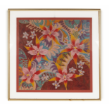 SOUTHEAST ASIAN SCHOOL (20TH CENTURY) - FIVE FLOWERS