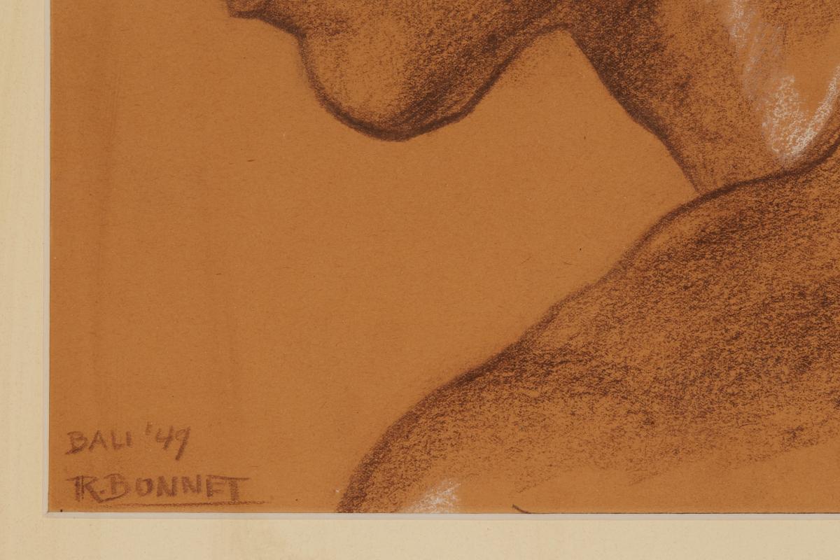 JOHAN RUDOLF BONNET (DUTCH, 1895-1978) - PORTRAIT OF A BALINESE MAN - Image 2 of 5