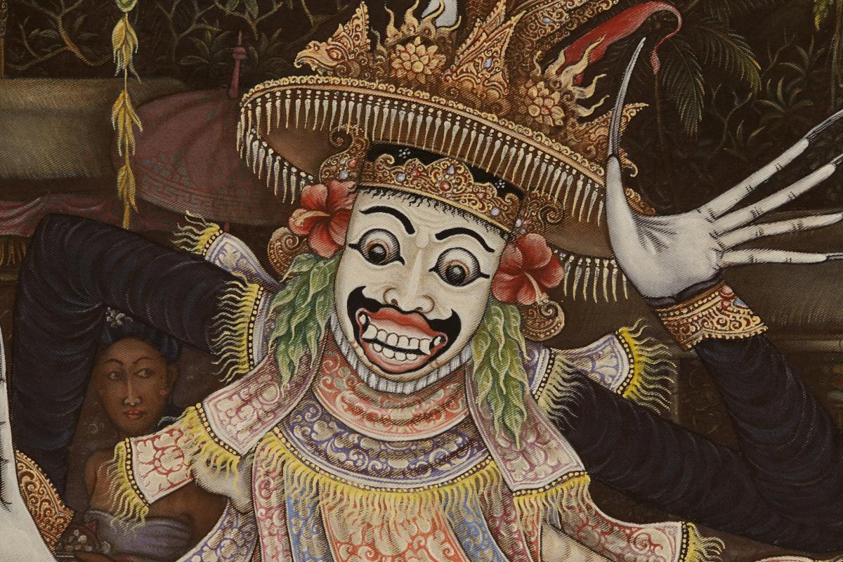 Lot 37 - I WAYAN BUDIYASA (INDONESIAN, 20/21ST CENTURY) - JAUK DANCE