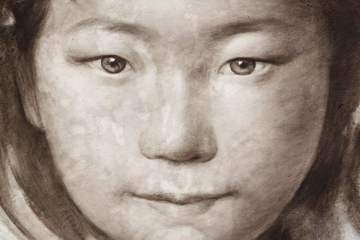 SILAWIT POOL SAWAT (THAI, B.1972) - THAI GIRL WITH BUTTERFLIES ON HAIR - Image 2 of 4