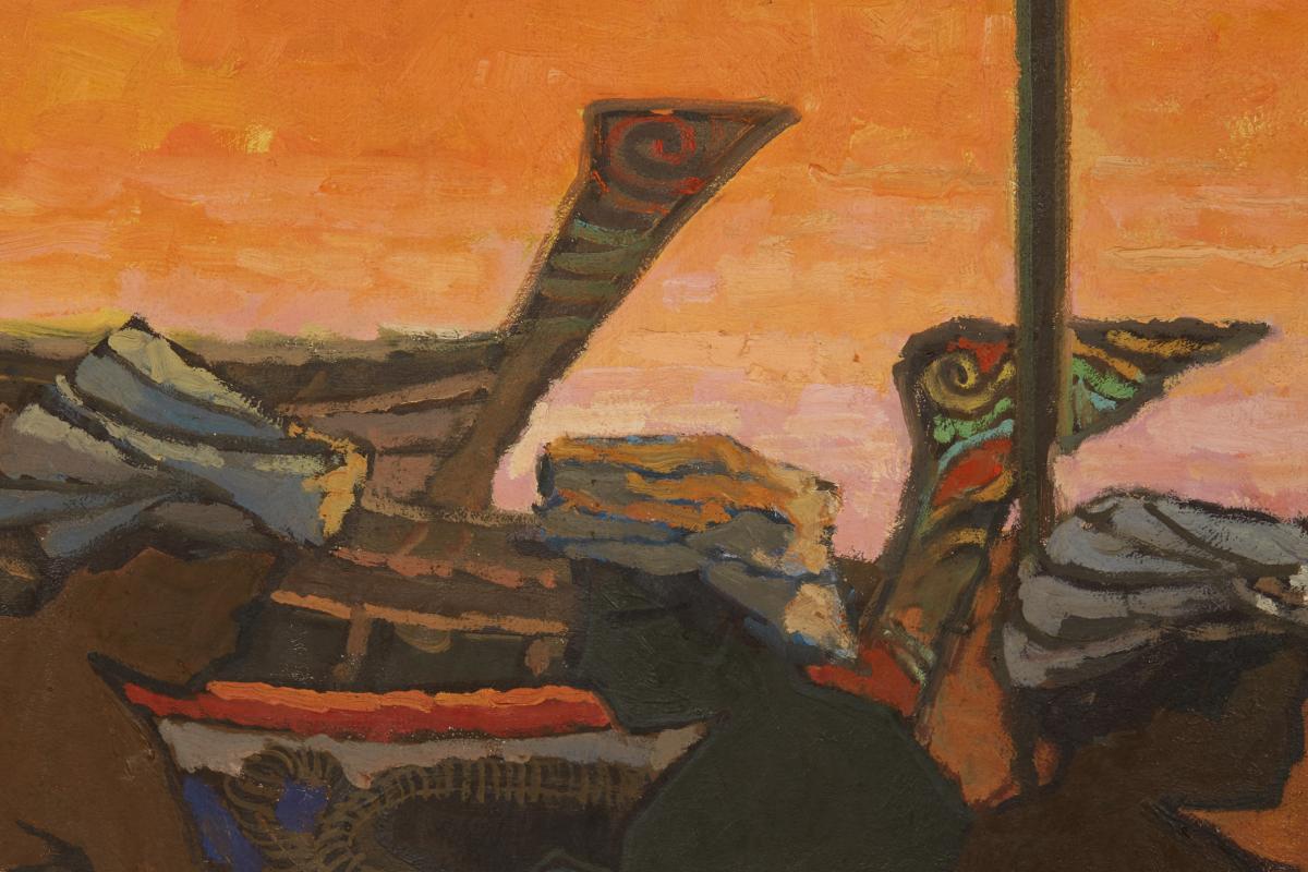 TEE HONG AW (SINGAPOREAN, B.1932) - FISHERMEN'S JOY - Image 5 of 13