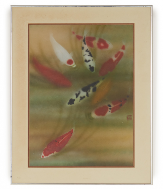 WILFRED LIM CHING KING (20TH CENTURY) - CARPS IN MOTION