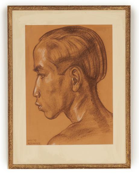 JOHAN RUDOLF BONNET (DUTCH, 1895-1978) - PORTRAIT OF A BALINESE MAN