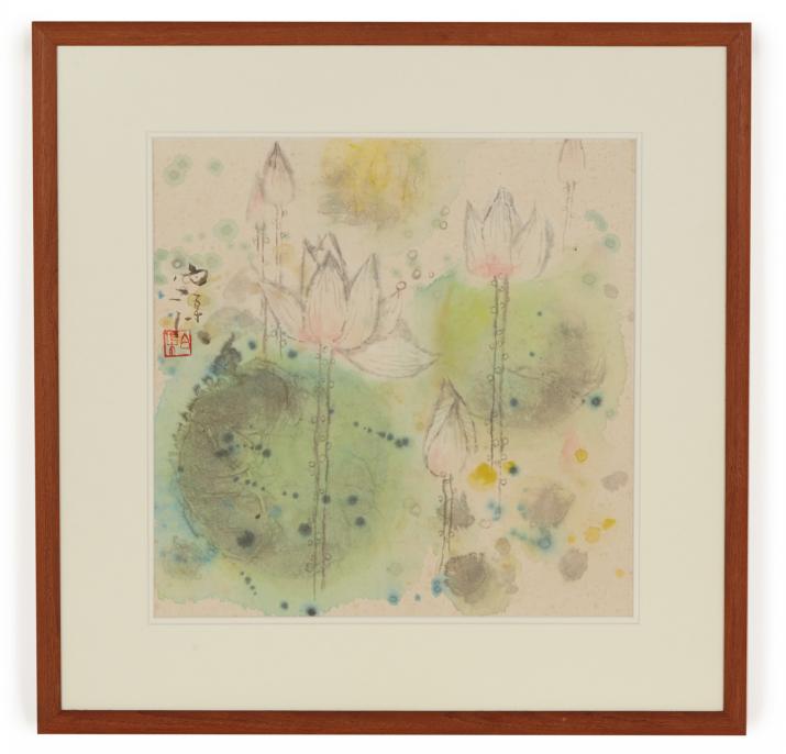 BAI QU (CHINESE, B.1939) - LOTUS FLOWERS